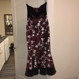 60a8557127 Gianni Bini Dresses - Gianni Bini Adrienne Jacquard Velvet Dress Merlot